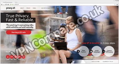 Proxy.sh Webpage
