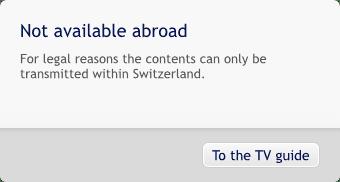 Swisscom Blocked