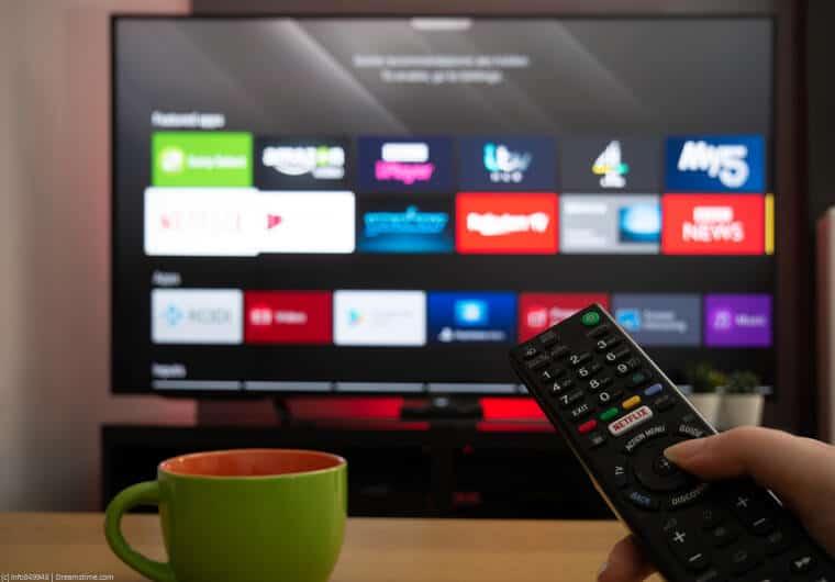 ITV Hub on a TV screen