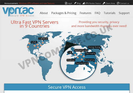 VPN.ac Website