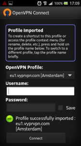 OpenVPN Connect Login