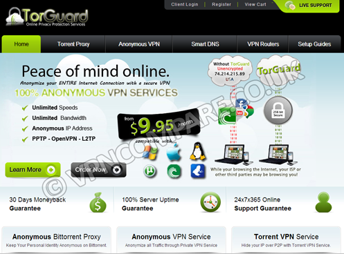 TorGuard Website