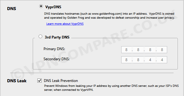 VyprVPN DNS Settings