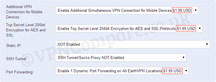 EarthVPN Add-Ons