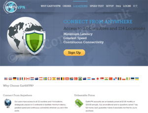 EarthVPN Website