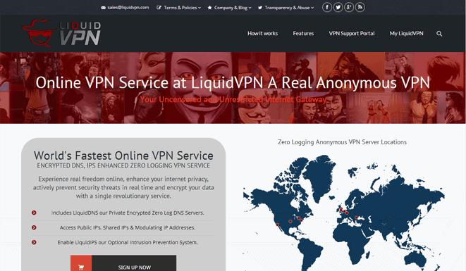LiquidVPN Website