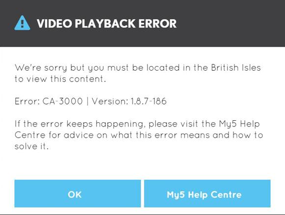 Channel 5 blocked