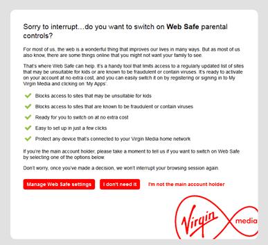 Virgin Web Safe
