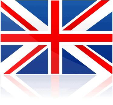 British TV Flag reflection