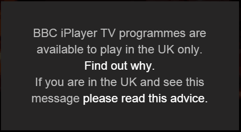BBC iPlayer blocked March 2015