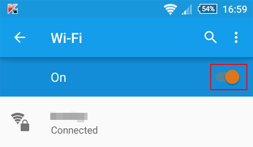 Android Wi-Fi Disable