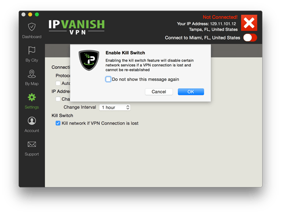 IPVanish Mac kill switch