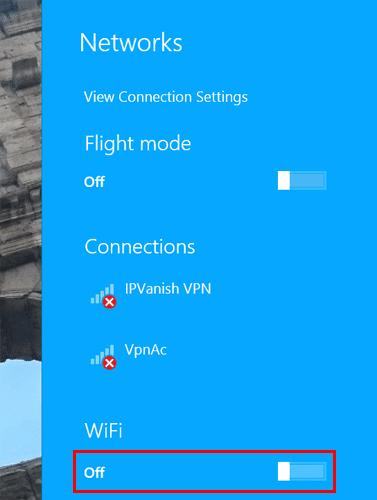 Windows 8.1 Wi-Fi Off