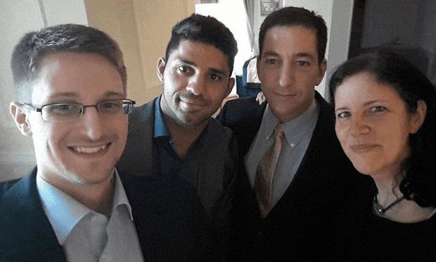 Edward Snowden with Glenn Greenwald