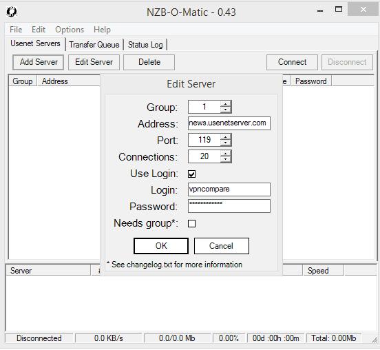 UsenetServer NZB