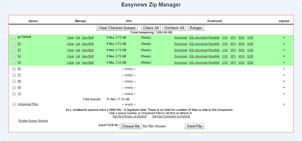 Easynews Zip Manager