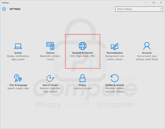 Windows 10 VPN Step 2