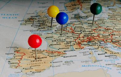European Pin Map