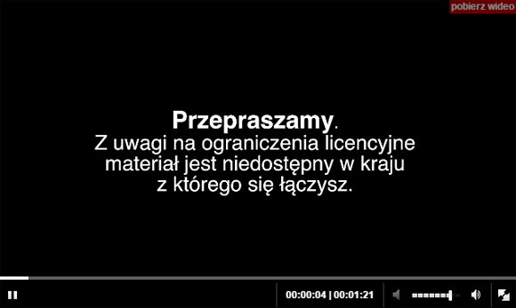 Polish TV Blocked