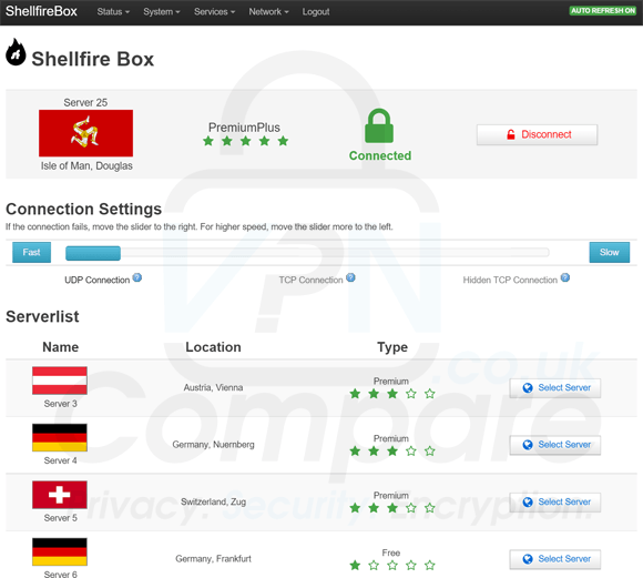 Shellfire Box interface