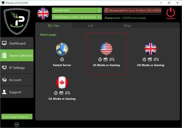 IPVanish US Server