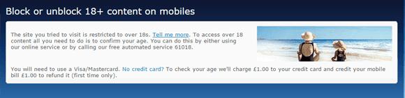 o2 Age Verification