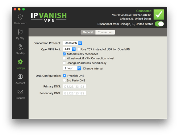 IPVanish Mac Settings