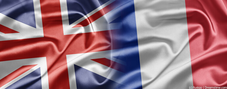 UK and France flags