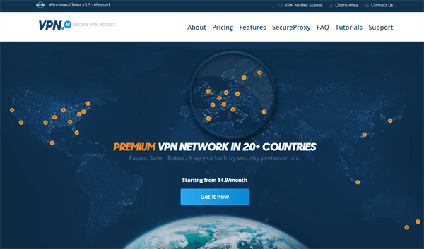 VPN.ac Website 2016