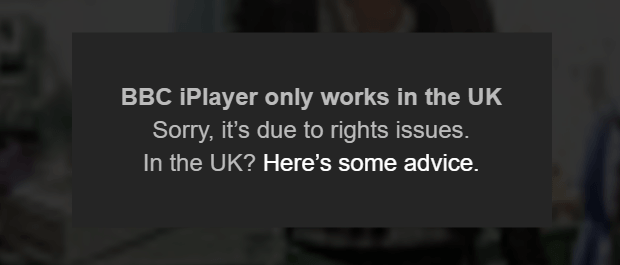 BBC iPlayer Blocked July 2016