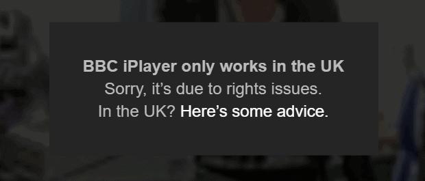BBC iPlayer Blocked July 2016