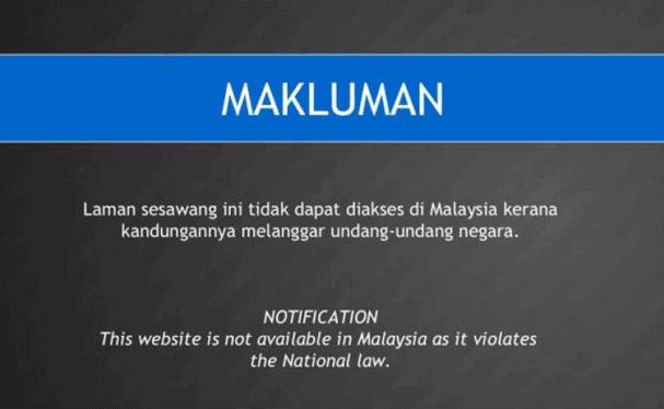Malaysia Blocked