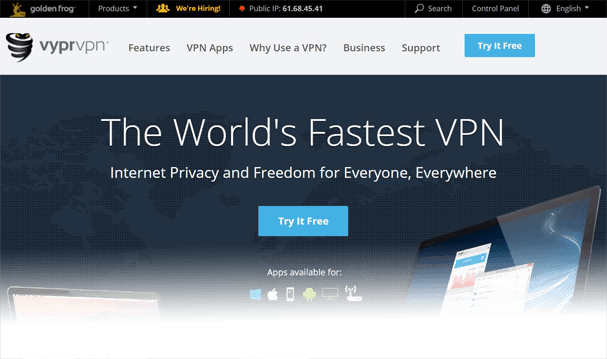 VyprVPN Website Nov 16