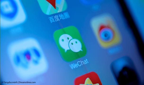 iPhone screenshot with WeChat app