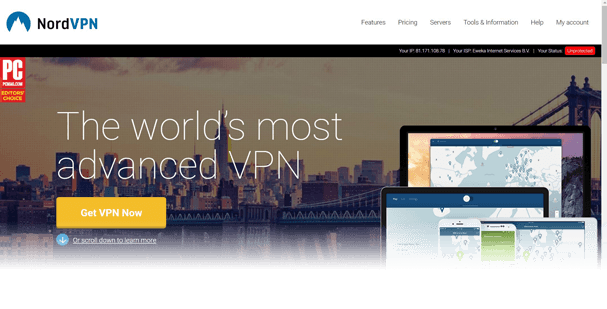 NordVPN Website Jan 17