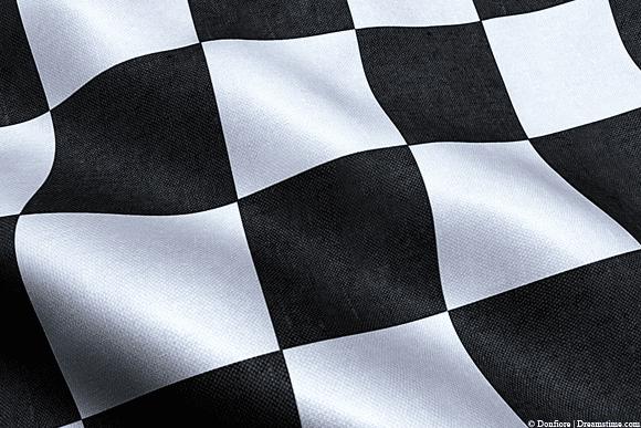 Formula 1 racing flag