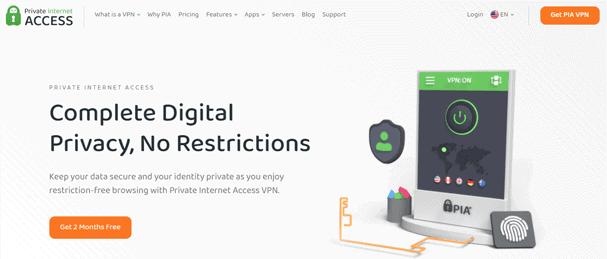 PrivateInternetAccess Website