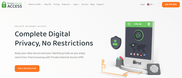 PrivateInternetAccess Website