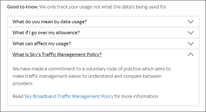 Sky traffic management policy