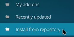 Kodi Install from Respository