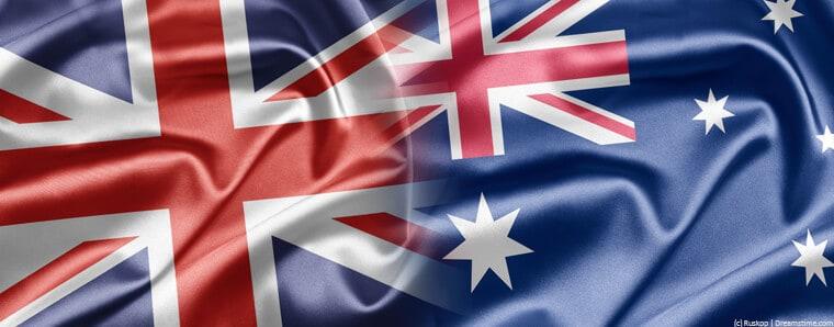 UK and Australia flag