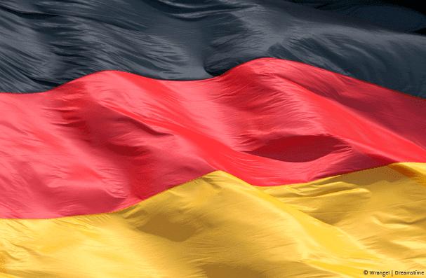 German Flag Blowing