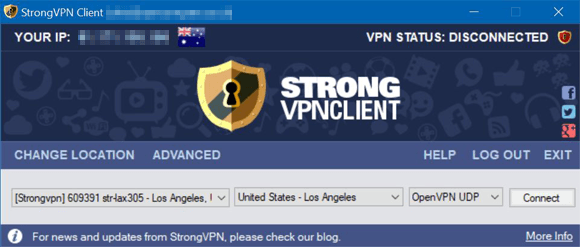 StrongVPN Windows August 2017