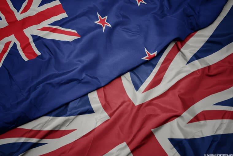 UK and New Zealand flag