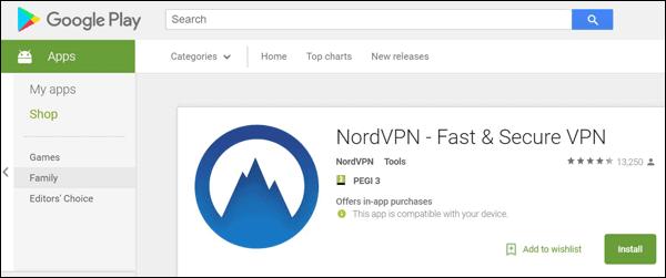 NordVPN App Store