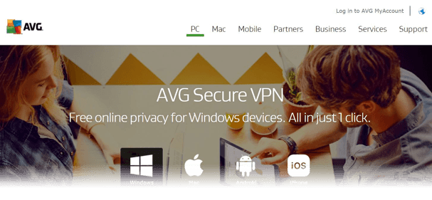 AVG Secure VPN Website