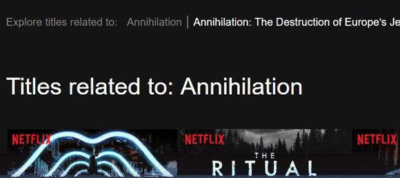 Annihilation US Netflix