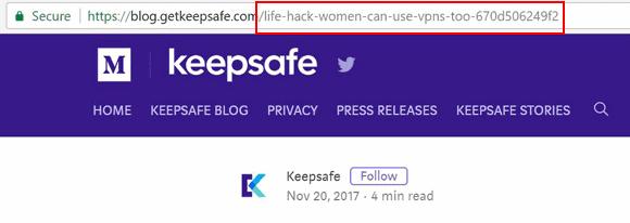 KeepSafe Women URL