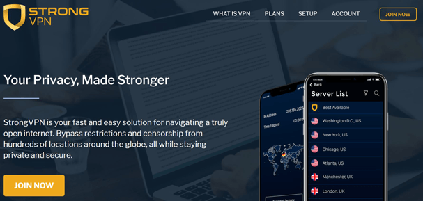 StrongVPN New Design