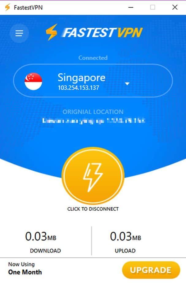 FastestVPN Windows App